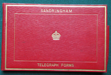 Antique Royal Red Leather Telegram Folder for King Edward VII Asprey Sandringham
